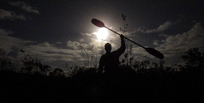 Learn more about canoeing in the full moon activity at O'KATAVENTURES Station